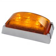 LED FEOM AMBER CHRM/BASE 10PACK