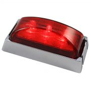 LED REOM RED CHROME/BASE 10PACK