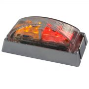 LED SM RED/AMBER CHROME 10PACK